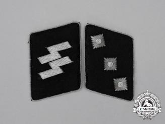 A Set of Waffen-SS Untersturmführer Collar Tabs: SS-RZM Tagged
