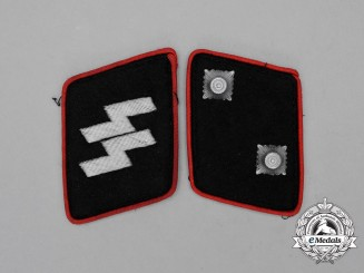 Germany. A Matching Set of Waffen-SS Oberscharführer Collar Tabs