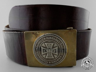 An Early First War German War Effort Belt with Buckle