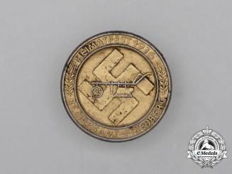 A 1936 Bezirksamt-Friedberg Hometown Celebration Badge