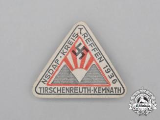 A 1936 NSDAP Tirschenreuth-Kemnath District Council Day Badge