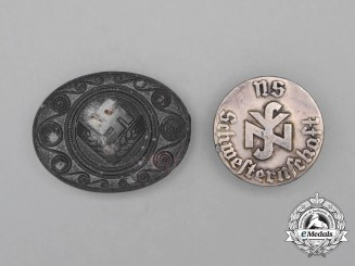 A Grouping of Two Third Reich Period German Civilian Membership Badges