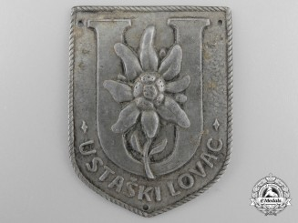 A Scarce Second War Croatian Ustaski Lovac Badge