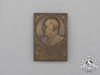 A 1935 Nijmegen Dutch National Socialist Party Day Badge