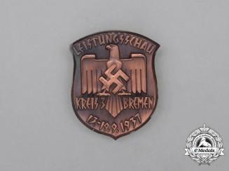 A 1937 NSRL Bremen District Gymnastics Show Badge