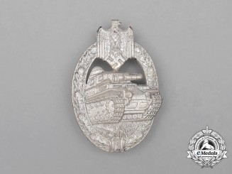 A Mint Second War German Silver Grade Tank Badge by Assmann & Söhne