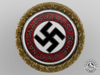 An NSDAP Golden Party Badge; Large Version by Deschler