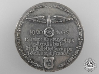 A 1920-1935 Fifteen Years of the Ortsgruppe Landshut in Ostmark Badge