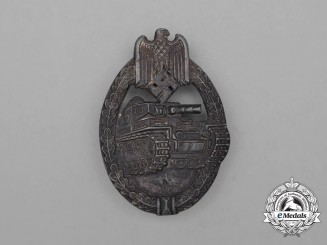 A Second War German Silver Grade Tank Badge by Rudolf Souval of Vienna