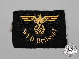 A Mint and Unissued Wehrmacht WVD Brüssel Reichsbahn Traffic Official's Sleeve Eagle