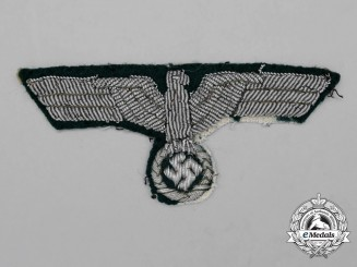 A Wehrmacht Heer (Army) Officer's Breast Eagle; Uniform Removed