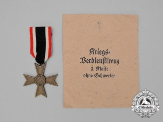 A Mint War Merit Cross Second Class without Swords in its Packet of Issue by Werner Redo