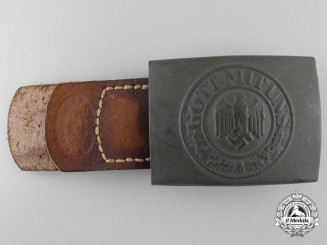 An Army (Heer) Belt Buckle by E. SCHNEIDER LÜDENSCHEID; Published Example