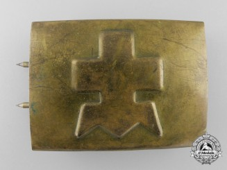 An Unidentified Second War Period Belt Buckle; Published Example