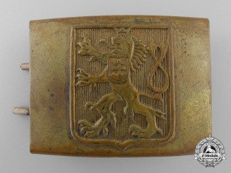 A Czechoslovakian Army Belt Buckle