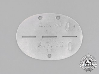 A Second War German Artillery Regiment Identification Tag