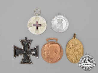 Five First War Period German Medals, Awards, and Decorations