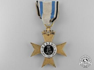 A Bavarian Military Merit Cross; First Class