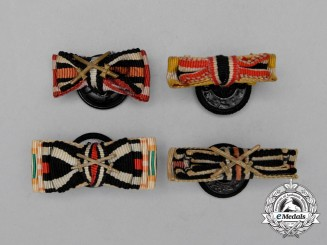 Four First and Second War German Boutonnieres
