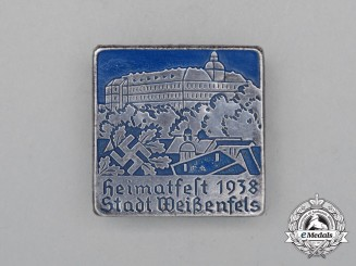 A 1938 Weißenfels Town Festival Badge