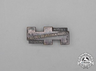 "A 1933 BDM Cologne ""Day of German Girls"" Badge by Paulmann & Crone"