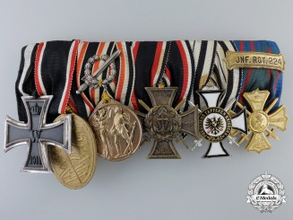 A First War German Naval Medal Bar