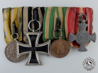 A Saxon, Prussian, and Austrian First War Medal Bar