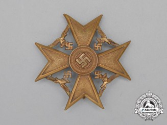 A Third Reich Period German Bronze Grade Spanish Cross