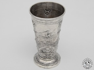 A German Imperial Naval Officer Corps Goblet to Retiring Lieutenant Commander Jacobs