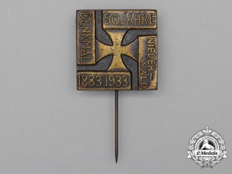 A 1933 50-Years Wieder-Wald Monument Stick pin