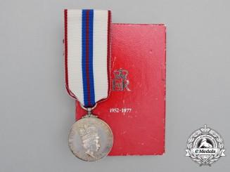 A Queen Elizabeth II Silver Jubilee Medal 1952-1977 in Box