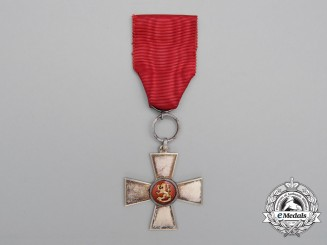 An Order of the Lion of Finland; Merit Cross