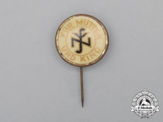 "A Third Reich Period NSV ""For Mother and Child"" Donation Pin"