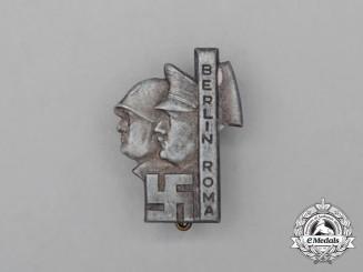 A Third Reich Period Berlin-Rome Friendship Badge