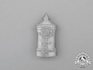 A Third Reich Period KDF Franken Region Celebration Badge