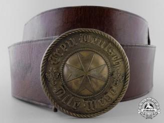 A Weimar Republic Jungdeutscher Orden Leader's Belt with Buckle