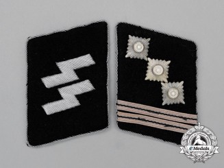 A Set of Waffen-SS Hauptsturmführer Rank Collar Tabs