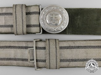 A Rare Late Weimar Republic Army Chaplin's Brocade Belt and Buckle