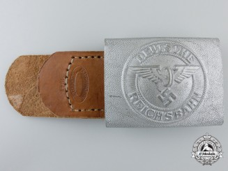 A German State Railway 1933-1945 Pattern EM Buckle by Assmann; Published