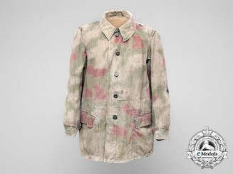 Germany, Luftwaffe. An Italian Made Field Division Tan & Water Pattern Camouflage Smock