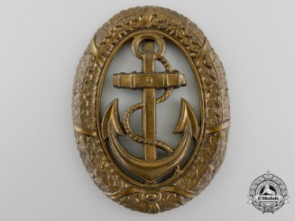 A Second War German Kriegsmarine Officer on Watch Badge