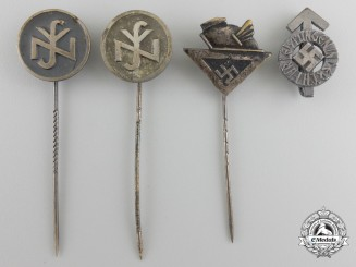 Four Second War German Pins