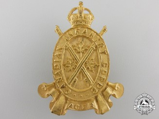 Canada. An Infantry Corps Officer's Cap Badge
