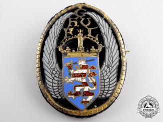 An Imperial German Hesse (Hessen) Badge by W. Saurwein