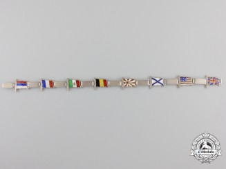 A First War Entente Alliance Naval Bracelet