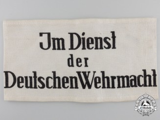 """A """"Im Dienst der Deutschen Wehrmacht"""" Armband"""