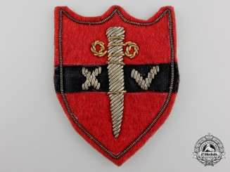 A Second War Fourteenth British Army Shoulder Patch