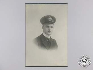A First War Royal Naval Air Service Officer's Studio Portrait