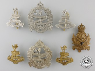 Seven Second War Canadian Intelligence Corps Insignia
