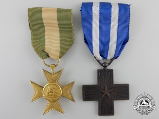 Two Italian Medals & Awards